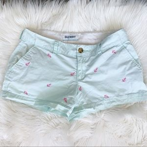 🌵 Old Navy Mint Anchor Shorts Size 2